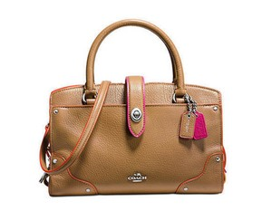 Coach Satchel in saddle pink