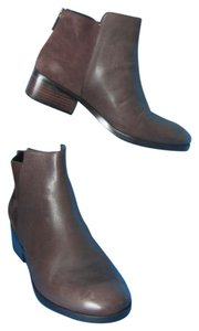Cole Haan Suede & Leather Back Zip Ankle Brown Boots