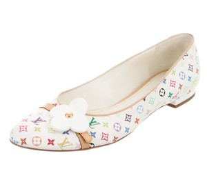 Louis Vuitton Gold Hardware Lv Monogram Monogram Lv Takashi Murakami White, Multicolor Flats