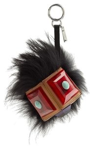 Fendi Geny fox-fur and Plexiglas Bag Bug Monster Key Chain Bag Charm