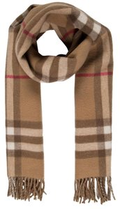 Burberry Brown, grey Burberry House Check print fringe hem scarf