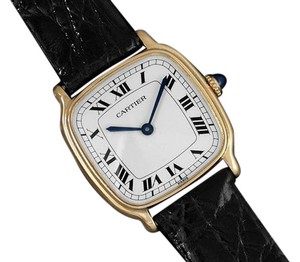 Cartier Cartier Vintage Mens Midsize Unisex Mechanical Watch - Solid 18K Gold