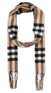 Burberry Brown, black, grey Burberry Novs Check print fringe hem scarf