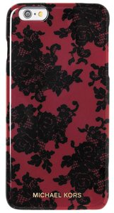 Michael Kors Lace Print Maroon and Black iPhone 6 Plus Case