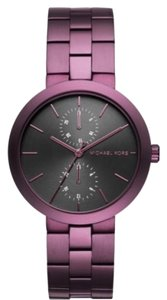 Michael Kors MICHAEL KORS Garner Black Dial Ladies Plum-Tone Watch