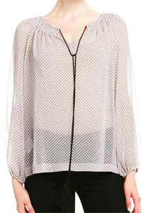 BCBGMAXAZRIA Top Black and White