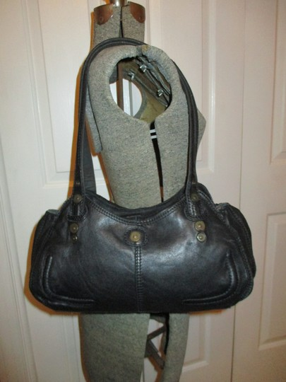 Lucky Brand Leather Satchel in black Image 1