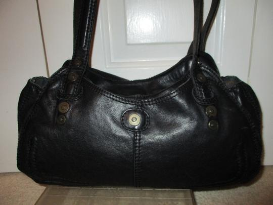 Lucky Brand Leather Satchel in black Image 4
