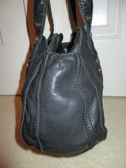 Lucky Brand Leather Satchel in black Image 5