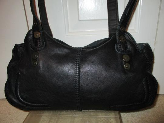 Lucky Brand Leather Satchel in black Image 6