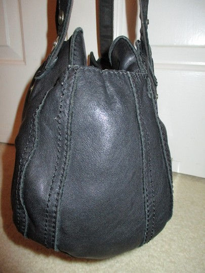 Lucky Brand Leather Satchel in black Image 7