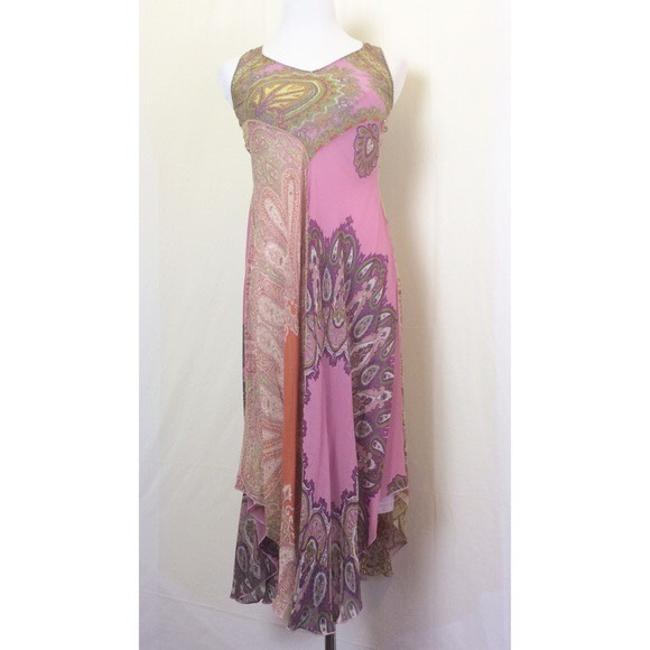 pinks/purples/yellows/greens/rust paisley print Maxi Dress by Anthropologie Image 3