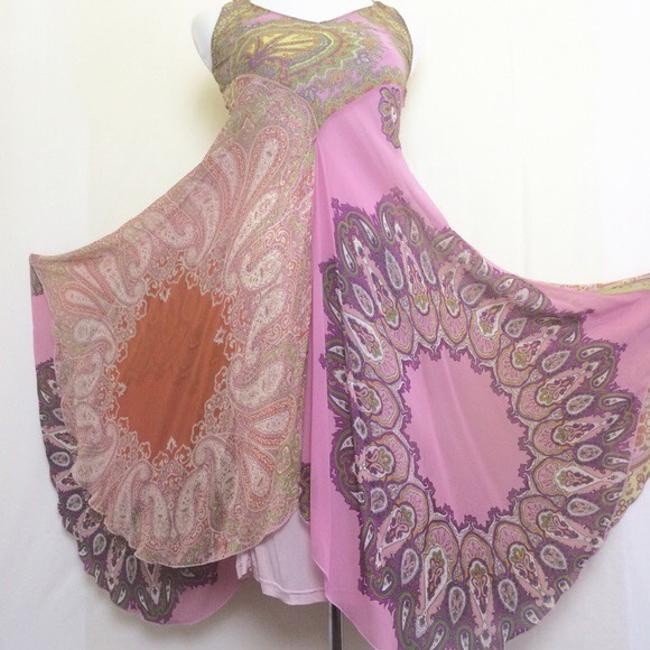 pinks/purples/yellows/greens/rust paisley print Maxi Dress by Anthropologie Image 4