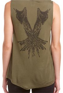 Haute Hippie Top Military Green