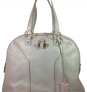 Saint Laurent Satchel in Ivory