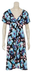 Temperley London short dress Blue Multicolor on Tradesy