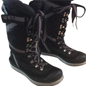 Coach Black Monogram with grey accents. Boots
