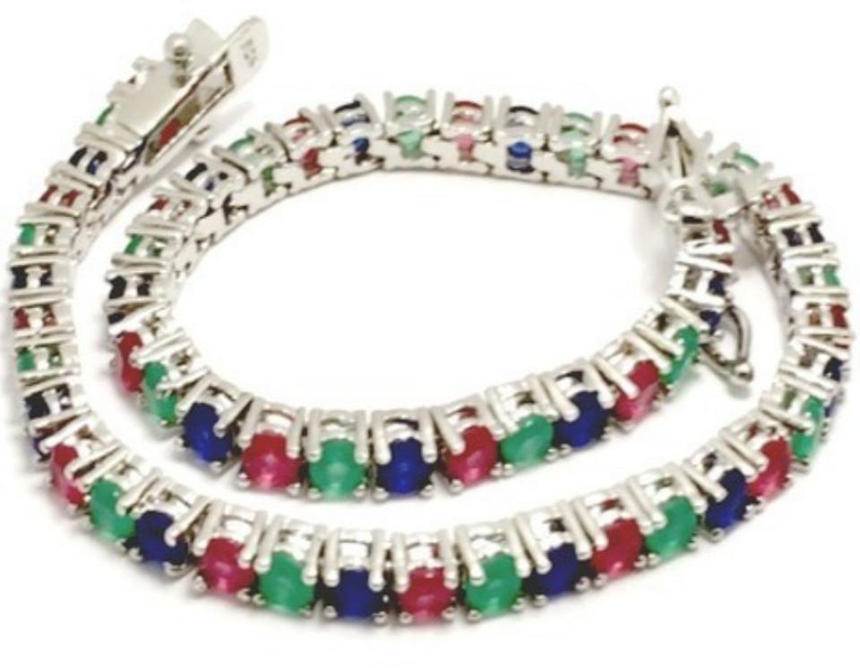 strand emerald products baroque gemstone digiovanni and joie sapphire ruby pearl choker multi