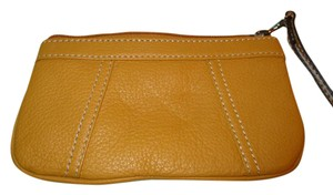 Other Leather Wristlet in yellow