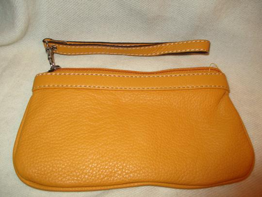 Other Leather Wristlet in yellow Image 1
