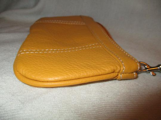 Other Leather Wristlet in yellow Image 3
