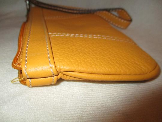 Other Leather Wristlet in yellow Image 4