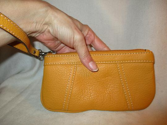 Other Leather Wristlet in yellow Image 8