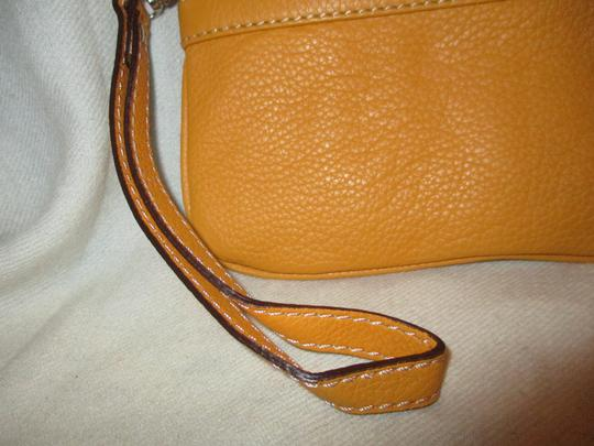 Other Leather Wristlet in yellow Image 9