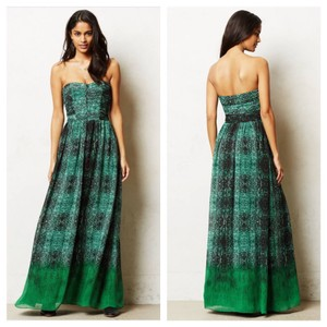 Green and Black Maxi Dress by Anthropologie