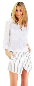 Equipment Button Down Signature Oversized Bohemian Classy Top Bright White