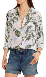 Equipment Button Down Oversized Bohemian Classy Tropical Top Multicolor tropical