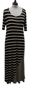 black and cream Maxi Dress by Gibson & Latimer