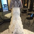 Lazaro Off-white Lace Tulle Custom Gown Sexy Wedding Dress Size 10 (M) Image 1