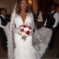 Lazaro Off-white Lace Tulle Custom Gown Sexy Wedding Dress Size 10 (M) Image 11