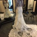 Lazaro Off-white Lace Tulle Custom Gown Sexy Wedding Dress Size 10 (M) Image 2