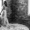 Lazaro Off-white Lace Tulle Custom Gown Sexy Wedding Dress Size 10 (M) Image 4