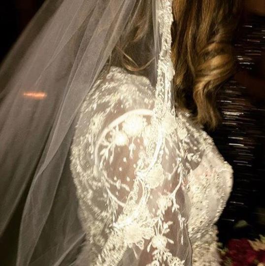 Lazaro Off-white Lace Tulle Custom Gown Sexy Wedding Dress Size 10 (M) Image 5