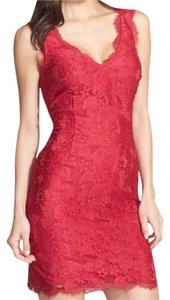 Adrianna Papell Lace Overlay Sheath Date Night Lace Dress