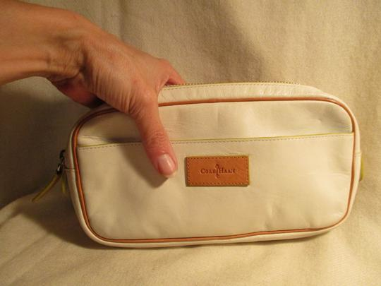 Cole Haan Leather white & tan Clutch Image 11
