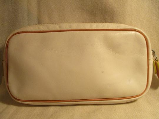 Cole Haan Leather white & tan Clutch Image 5