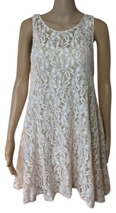 Free People short dress Cream Lace on Tradesy