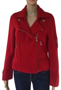 Anthropologie Anthro Moto Red Jacket