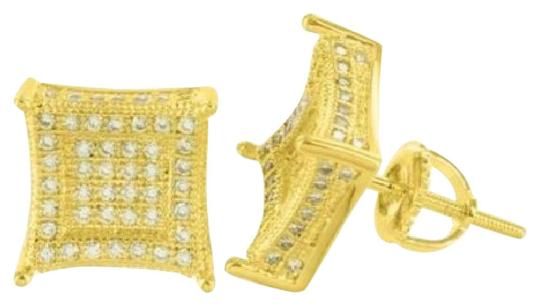 Preload https://img-static.tradesy.com/item/20736584/gold-tone-mens-yellow-cz-studded-kite-square-iced-3d-earrings-0-1-540-540.jpg