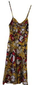 YaYa Aflalo short dress mustard, white, red, navy on Tradesy