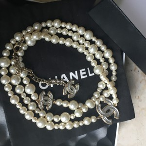 Chanel Chanel Chanel Classic CC Pearl Gripoix Necklace