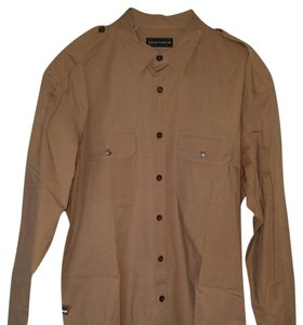 Ralph Lauren Black Label Button Down Shirt Tan