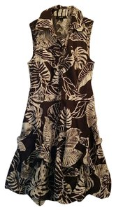 BCX short dress Brown/cream on Tradesy