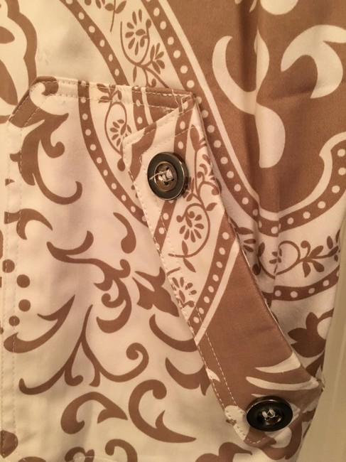 Other Cotton tan and white Jacket Image 2