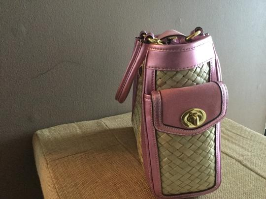 Coach Satchel in Pink/straw Image 1