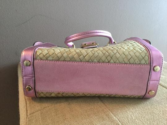 Coach Satchel in Pink/straw Image 2